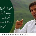 شہباز شریف کے منہ سے آرمی چیف کی تعریف  نوکری کی درخواست لگتی ہے ، عمران خان