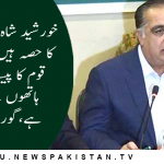 خورشید شاہ اس ٹولے کا حصہ ہیں جس نے قوم کا پیسہ دونوں ہاتھوں سے لوٹا ہے،گورنر سندھ